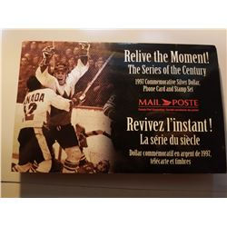 1997 Canada Post Relive the Moment Silver Dollar & Stamp Set