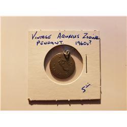 Vintage Aqurius Zodiac Pendant