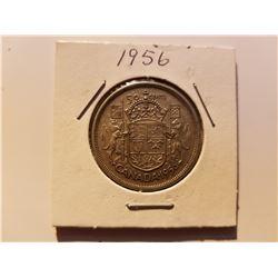 1956 Canada Silver 50 Cent Coin