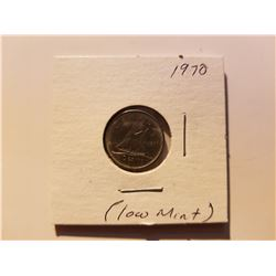 1970 Canada 10 Cent Silver Coin