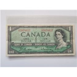1954 Canada 1 Dollar Bill