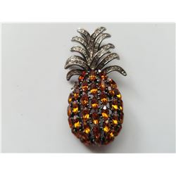 Unique Vintage Pineapple Brooch Pin