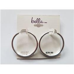 Bella Brand Argent Sterling Silver Hoop Earrings