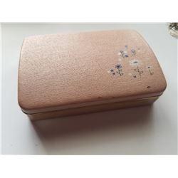Vintage Pink Travel Jewelery Box