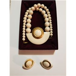 Vintage Glam Necklace and Earrings Set