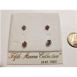 Fifth Avenue Collection 14K Post Earrings
