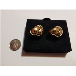 Gold Tone Stud Earrings Set