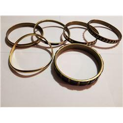 Lot of Six Brass Bracelets