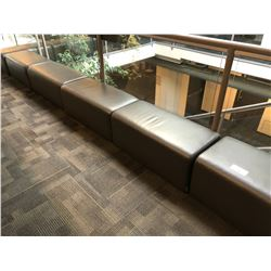 SET OF 9 GREY LOUNGE/RECEPTION BENCHES