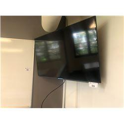 SHARP FLATSCREEN TV WITH FULL MOTION WALL MOUNT