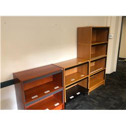 4 ASSORTED BOOK CASES