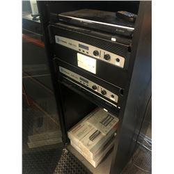 INTERCOM/OFFICE MUSIC DISTRIBUTION SYSTEM INC. 2X CROWN CDI 1000 AMPS, DVD PLAYER, INTERM PA