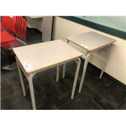GREY METAL FRAME STUDENT DESK