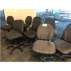 LOT OF 10 GREY STENO CHAIRS