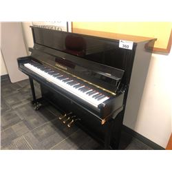 LIEBERMANN UPRIGHT PIANO WITH PIANO CART