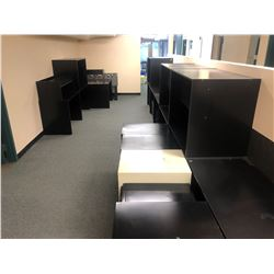 ASSORTED FURNITURE/DESKS IN AREA INC. FILE CABINETS AND FOOSBALL TABLE (POOR CONDITION)