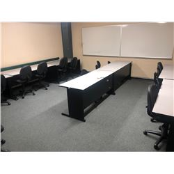 ALL CHAIRS IN ROOM INC. BLACK, AND GREY STENO CHAIRS