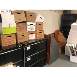 CONTENTS OF ROOM 131 INC. 4 FILE CABINETS, BOOK CASES, WHITE BOARDS AND CORK BOARD