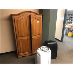 CONTENTS OF HALLWAY INC. WARDROBE, AIR CONDITIONERS, GUITAR, PLANTS, SHELVES AND MORE, SAFE NOT