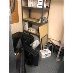 CONTENTS OF CLOSET INC RACK, PARTS TVS AND MORE