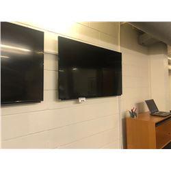 SHARP FLATSCREEN TV WITH FLUSH WALL MOUNT