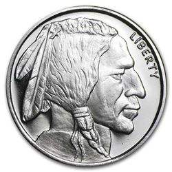 USA Buffalo Head Fractional .999 Fine Silver  Round.