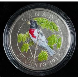 RCM 2012 - Rose Breasted Grosbeak 25 Cent  Coin LE