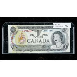 Bank of Canada 1973 1.00 4 Digit Radar AU-UNC