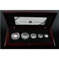 RCM 2003 Silver Maple Leaf Hologram Set with  C.O.A.