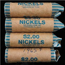 Group of (4) Rolls Canada 5 Cents 1965+ and  George VI