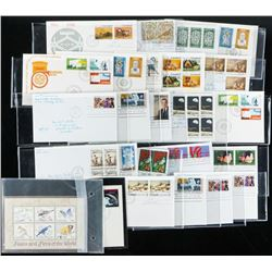 Group of approx (23) First Day Covers and  Stamps CANADA and USAÂ