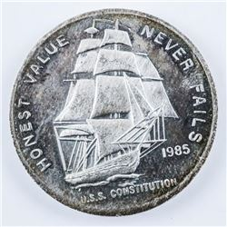 USA Liberty Mint 1985 USS Constitution Medal  .9999 Fine Silver 1oz