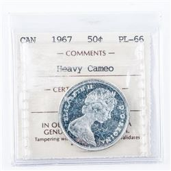 1967 Canada 50 Cent PL-66 Cameo ICCS