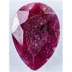Loose Gemstone 4.81ct Pear Cut Ruby TRRV:  $1440.00