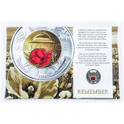 Armistice 2018 Red Poppy 2.00 Coin with  Display