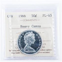 1966 Canada 50 Cent PL-65 Cameo ICCS