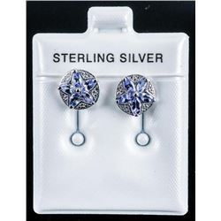 925 Sterling Silver Earrings 10 Marquise  Natural Tanzanties .50ct Appraised: $910.00