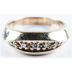 Estate 10kt Gold Diamond Band Ring - Size 10