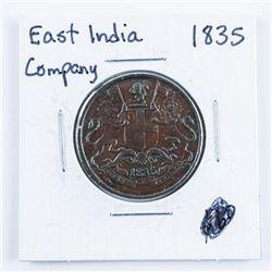 East India Company 1835 1/2 Anna