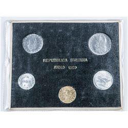1969 Republic of Italy Coin Set