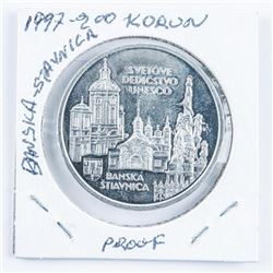 1997 Proof '200 Koron' Coin