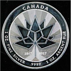 Canada 150 - 1867-2017 .9999 Fine Silver 1oz  Medallion Canada Silver