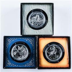 Lot (3) Canada Silver BU Coins: 2003, 2002,  2004