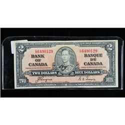Bank of CANADA 1937 2.00 Note BC-22c