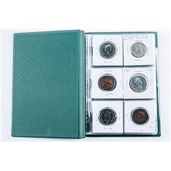 Coin Stock Book with 18 Coins Includes Silver