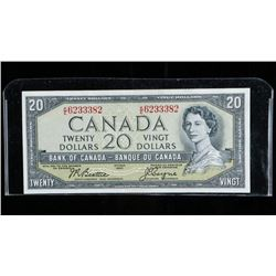 Bank of Canada 1945 20.00 Note Modified  Portrait. Choice UNC B/C