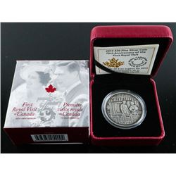Royal Visit to Canada 75th Anniversary .999  Fine Silver $20.00 Coin