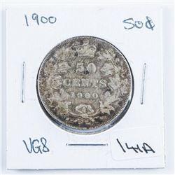 1900 Canada Silver 50 Cent 'Victoria' VG8