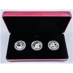 RCM 2013 Royalty Coin Set 'Royal Baby 3x.999  Fine Silver $20.00 Coins, LE with C.O.A.