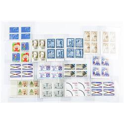 Lot (15) Blocks (4) CANADA Mint Stamps